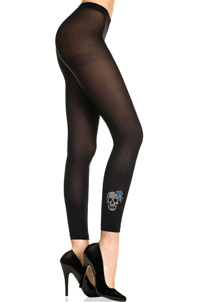 Music Legs Skull and Anchor Leggingsit Muoti / Strumpbyxor.com